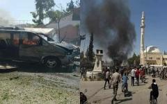الصورة: الصورة: سقوط ضحايا في تفجير سيارة مفخخة بريف حلب