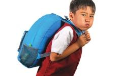 الصورة: الصورة: مخاطر ثقل الحقيبة على الأطفال