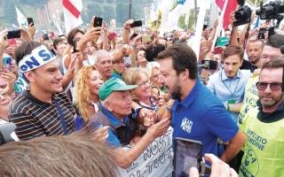الصورة: الصورة: سالفيني يتوقّع قرب عودة حزبه إلى الحكم في إيطاليا