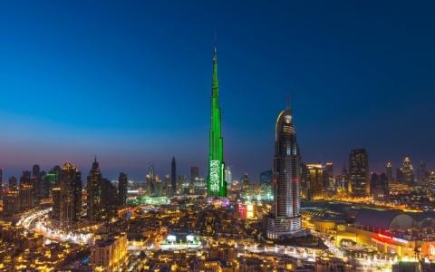 الصورة: الصورة: دبي تحتفي باليوم الوطني السعودي
