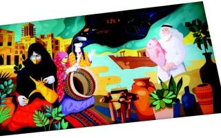 الصورة: الصورة: «الجداريات».. قصص إلهام من «دانة الدنيا»