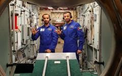 الصورة: الصورة: فيلم لـ «ناشونال جيوغرافيك» .. يوثق رحلة أول رائد فضاء إماراتي إلى محطة الفضاء الدولية