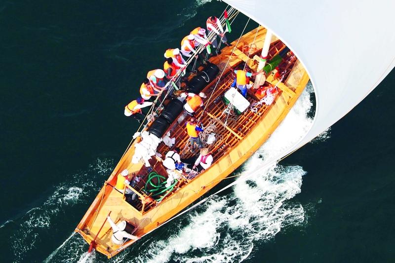 الصورة : القوارب الشراعية 43 قدماً جاهزة للإبحار في سباق دبي الثاني  |  من المصدر