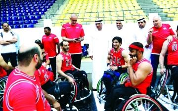 الصورة: الصورة: منتخب «سلة الكراسي» يكتسح نظيره الأردني