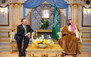 الصورة: الصورة: بومبيو: واشنطن تقف إلى جانب السعودية في مواجهة الأعمال الإجرامية