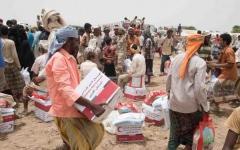 الصورة: الصورة: الإمارات تقدم مساعدات طارئة لناجين من مجزرة ارتكبها الحوثيون جنوب الحديدة
