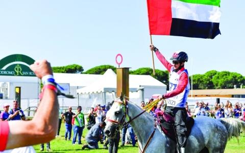الصورة: الصورة: الغيلاني بطلاً لمونديال الخيول الصغيرة في إيطاليا
