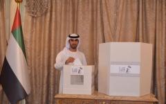 الصورة: الصورة: المواطنون يدلون بأصواتهم في انتخابات «الوطني » بسفارة الدولة بالقاهرة