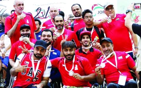 الصورة: الصورة: 59 ميدالية حصاد أصحاب الهمم في «بارالمبية غرب آسيا» بالأردن