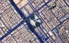 الصورة: الصورة: «خليفة سات» يلتقط صورة فضائية لبرج مركز المملكة