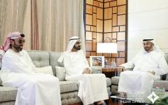 الصورة: الصورة: محمد بن راشد ومحمد بن زايد يناقشان موضوعات تتعلق برِفعة الوطن وسعادة المواطن
