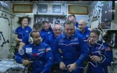 الصورة: الصورة: بالفيديو.. محطة الفضاء تستقبل أول رائد فضاء إماراتي وأول عربي يزورها