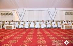 الصورة: الصورة: محمد بن راشد يقدم واجب العزاء في وفاة النعيمة الكتبي