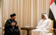 الصورة: الصورة: محمد بن زايد يستقبل عمار الحكيم رئيس تيار الحكمة الوطني العراقي