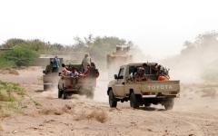 الصورة: الصورة: التحالف يدك مواقع الميليشيا بصعدة وحجة