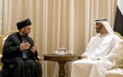 الصورة: الصورة: محمد بن زايد: الإمارات حريصة على تعزيز علاقاتها مع العراق