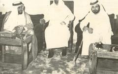 الصورة: الصورة: محمـد بن راشد في ذكرى رحيل والد دبي ومهندسها: راشد بن سعيد تصدّعت برحيله القلوب