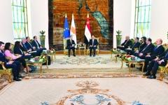 الصورة: الصورة: قمة مصرية قبرصية تبحث التحديات في منطقة شرق المتوسط