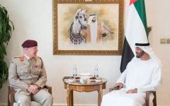 الصورة: الصورة: محمد بن زايد يستقبل كبير مستشاري وزارة الدفاع البريطانية