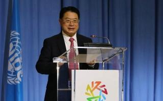 """الصورة: الصورة: لي يونغ: """"اليونيدو"""" والإمارات تشاركان في صياغة مستقبل القطاع الصناعي العالمي"""