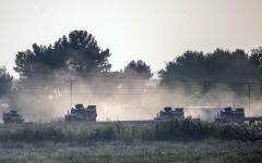الصورة: الصورة: تركيا تعلن الاستيلاء على رأس العين وتتسبب بنزوح 200 ألف مدني