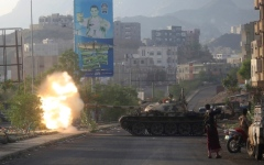 الصورة: الصورة: الشرعية تفك حصار تعز بفتح منفذين