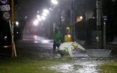 الصورة: الصورة: أسوأ إعصار يضرب اليابان منذ 60 عاماً