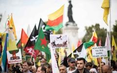 الصورة: الصورة: مدن أوروبية تتظاهر ضد الهجوم التركي على سوريا