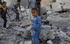 الصورة: الصورة: ألغام الميليشيا تغتال براءة الطفولة في اليمن