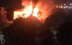 الصورة: الصورة: مصر.. حريق ضخم في كنيسة مارجرجس بحلوان