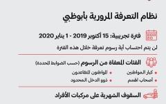 الصورة: الصورة: أبوظبي تطبق فترة تجريبية للتعرفة المرورية حتى مطلع 2020