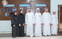 الصورة: الصورة: حمدان بن محمد يستقبل فريق الإمارات المشارك ببطولة العالم للروبوتات والذكاء الاصطناعي