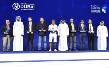 الصورة: الصورة: أحمد بن محمد يفتتح مؤتمر دبي الرياضي للذكاء الاصطناعي
