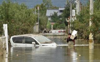 الصورة: الصورة: ارتفاع عدد قتلى إعصار اليابان إلى 66
