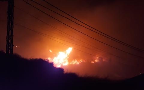 الصورة: الصورة: مشاهد من حرائق لبنان