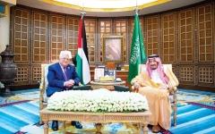 الصورة: الصورة: خادم الحرمين يجدد التأكيد على وقوف المملكة الدائم مع فلسطين