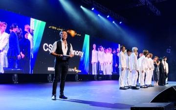 الصورة: الصورة: حشود جماهيرية تستقبل فرق «كي بوب» الكورية في دبي