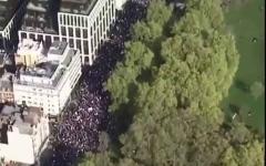الصورة: الصورة: بالفيديو.. مظاهرات في لندن للمطالبة باستفتاء ثان حول البريكست