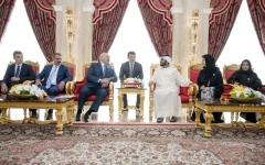 الصورة: الصورة: محمد بن راشد ورئيس بيلاروسيا يبـــحثان توسيع آفاق العلاقات الثنائية