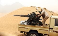 الصورة: الصورة: القوات المشتركة تصد هجوماً كبيراً للحوثي على الدريهمي