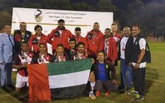 الصورة: الصورة: منتخبنا يحرز  برونزية البطولة العربية للرجبي