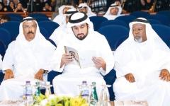 الصورة: الصورة: أحمد بن محمد يحضر حفل جائزة راشد للتفوق العلمي