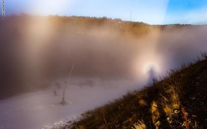 """الصورة: الصورة: سر """"شبح الجبل"""" يكشفه مصور نرويجي"""