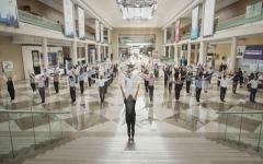 الصورة: الصورة: موظفو «دبي التجاري العالمي» يشاركون  في تحدي اللياقة