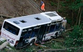 الصورة: الصورة: مقتل 19 شخصاً إثر سقوط حافلة من ارتفاع 300 متر ببيرو