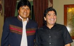 الصورة: الصورة: مارادونا يؤكد مساندته للرئيس البوليفي السابق موراليس