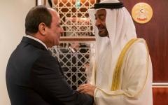 الصورة: الصورة: الرئيس المصري يصل البلاد ومحمد بن زايد في مقدمة مستقبليه