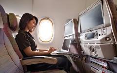 الصورة: الصورة: طيران الإمارات أفضل واي فاي ومأكولات