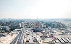الصورة: الصورة: برج «الماس» يظهر في أفق دبي