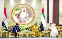 الصورة: الصورة: الإمارات ومصر علاقات راسخة وتوافق في مواجهة  التحديات الإقليمية والدولية